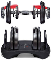 Metal plates encased in durable molding, Bowflex SelectTech ST 552 Adjustable Dumbbells