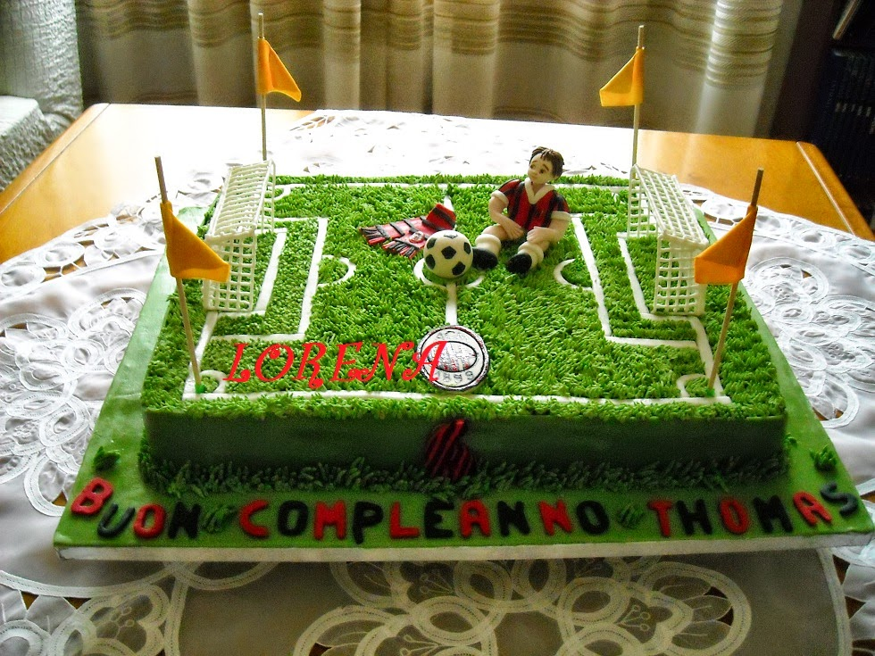 Le Torte Di Lorena E Non Solo Torta Campo Di Calcio Per Thomas