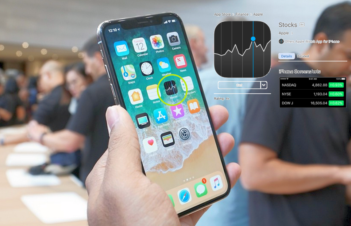 iPhone X Tutorial : How to Open Stocks on iPhone X | iPhone 8 Manual User Guide