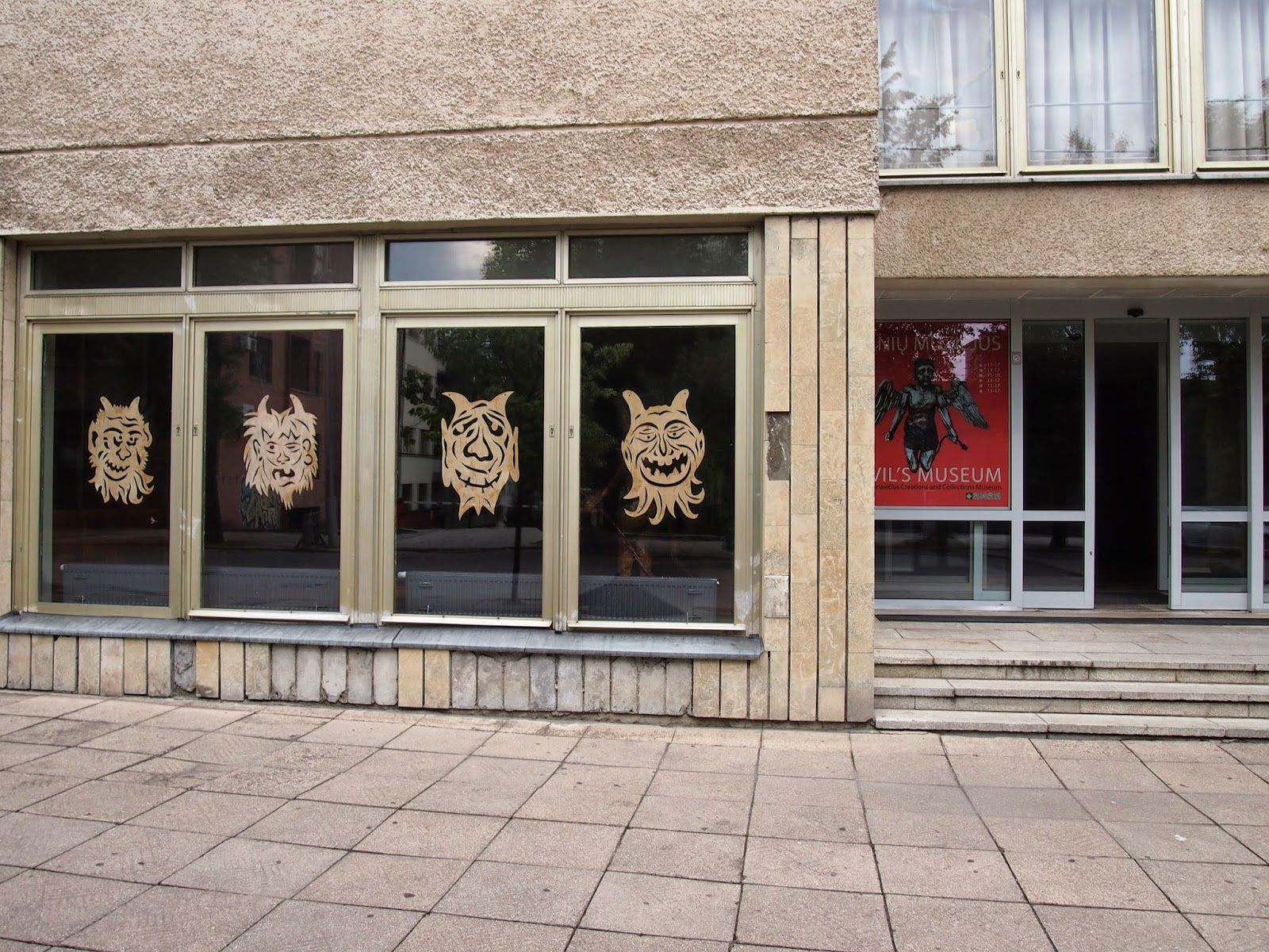 the outside of the Devil's Museum in Kaunas