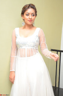Anu Emmanuel in a Transparent White Choli Cream Ghagra Stunning Pics 061.JPG