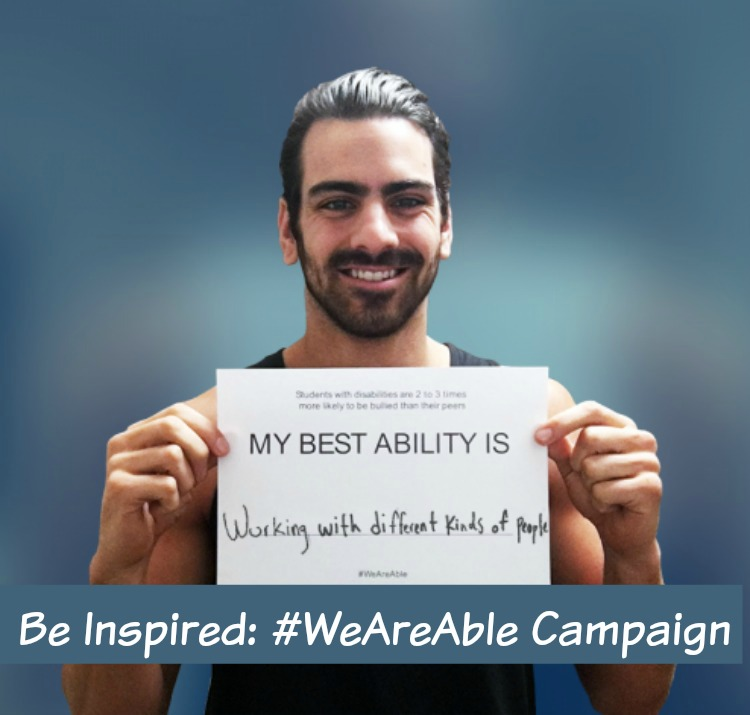 A Vintage Nerd, Vintage Blogger, Living with CMT, Life with a Disability,  Weareable Campaign, Nyle DiMarco