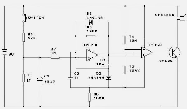 Siren Alarm Circuit Diagram
