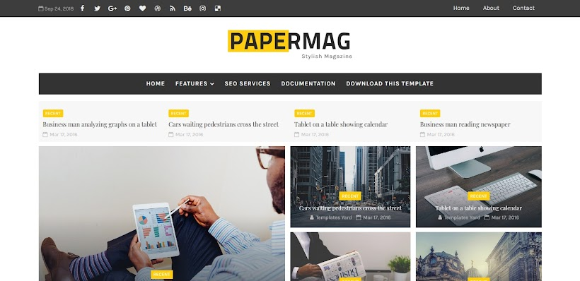 PaperMag Free Blogger Template