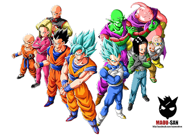 Render Dragonball Super U7 Team
