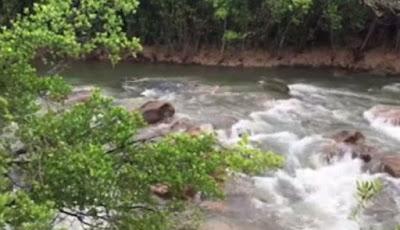 Asyik Memancing, Tiba-tiba Monster Sungai Muncul di Hadapan