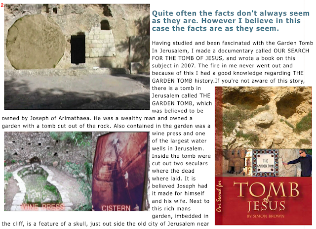 Garden tomb of Jesus. And the GREAT STONE, Mark 16:4,