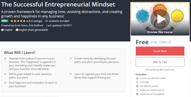 [100% Off] The Successful Entrepreneurial Mindset| Worth 195$