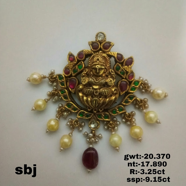 Antique Pretty Pendants by Balaji jewellers