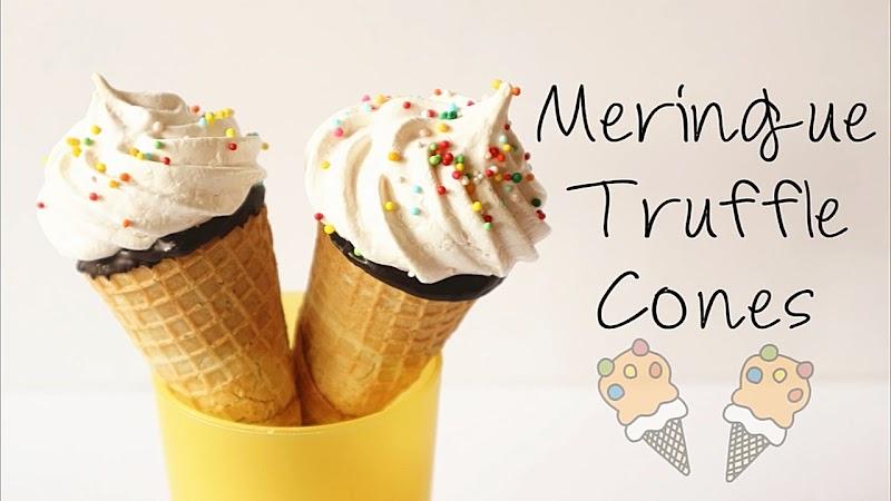 Meringue Truffle Cones 蛋白糖雪糕