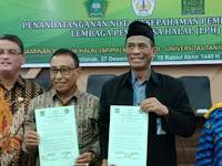 BPJPH dan Universitas Tanjung Pura Teken MoU Jaminan Produk Halal
