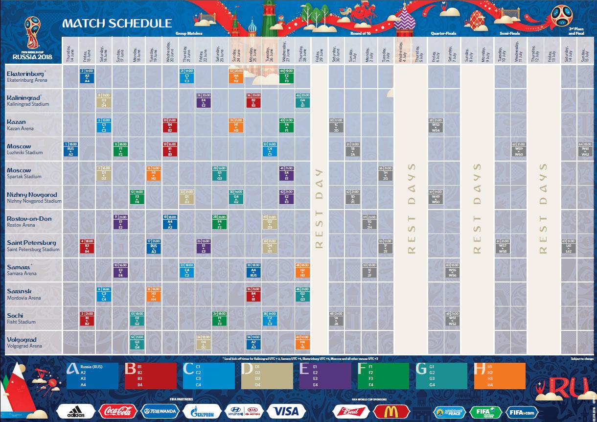 match schedule 2018