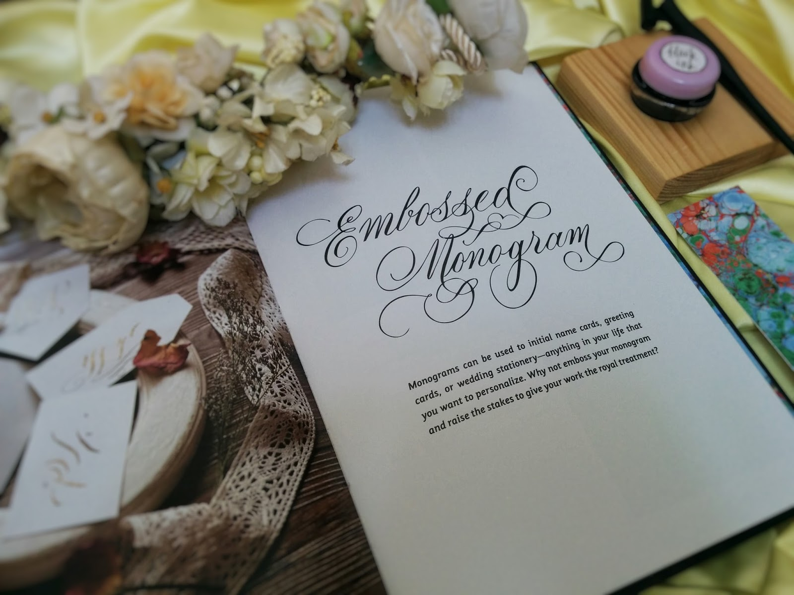Grey moleskin vow book gold calligraphy wedding vow book his and
