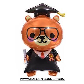 Balon Foil Beruang Sarjana / Graduation Bear (Seri Dokter)