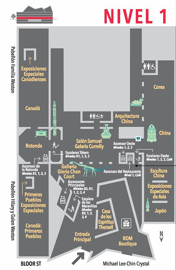 Plano Nivel 1 Royal Ontario Museum ROM Toronto
