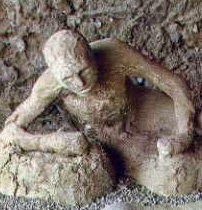 Victim of Mount Vesuvius in Pompeii