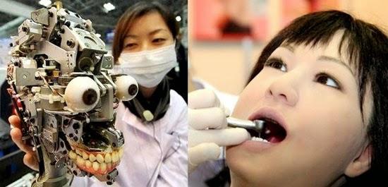 Robô paciente de dentista