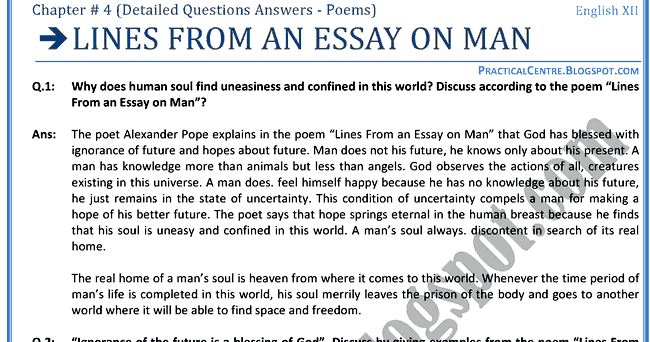 answering questions in essay format
