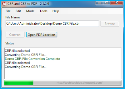 CBR and CBZ to PDF Converter Pic