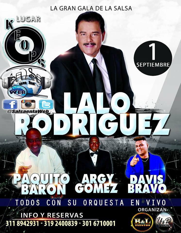 ► Lalo Rodriguez, Paquito Baron, Argy Gomez y Davis Bravo en Concierto