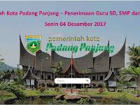 Pemko Padang Panjang - Penerimaan Guru SD & SMP Serta Guru BK