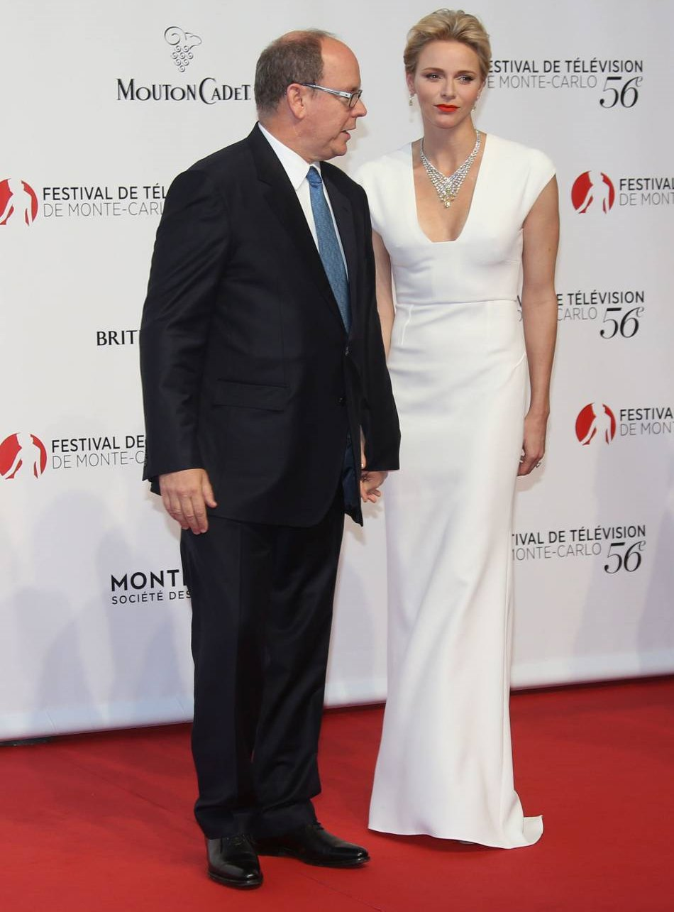 Princess Charlene and Prince Albert at the 56th Monte ...