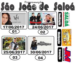 PROGRAMAÇÃO OFICIAL SÃO JOÃO DE SALOÁ
