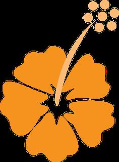 Flores y Lazos del Clipart de Fiesta Hawaiana de Chicas.
