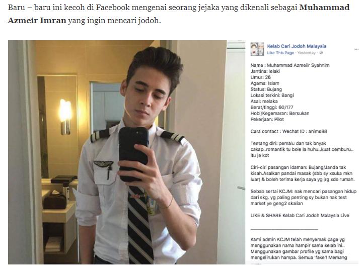 Tular Pilot Kacak Ini Cari Jodoh Di Kelab Cari Jodoh Malaysia Wow Wew