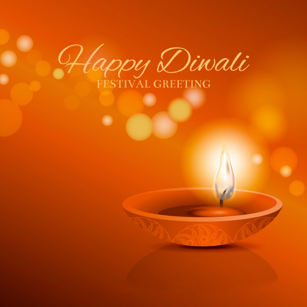 Diwali diyas Greeting cards for greetings: