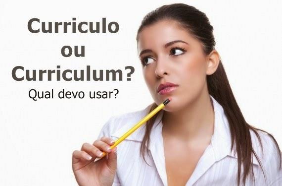 curriculum ou curriculo