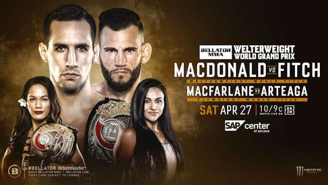 Bellator 220 Live 2019 Watch MacDonald vs Fitch PPv Boxing Online