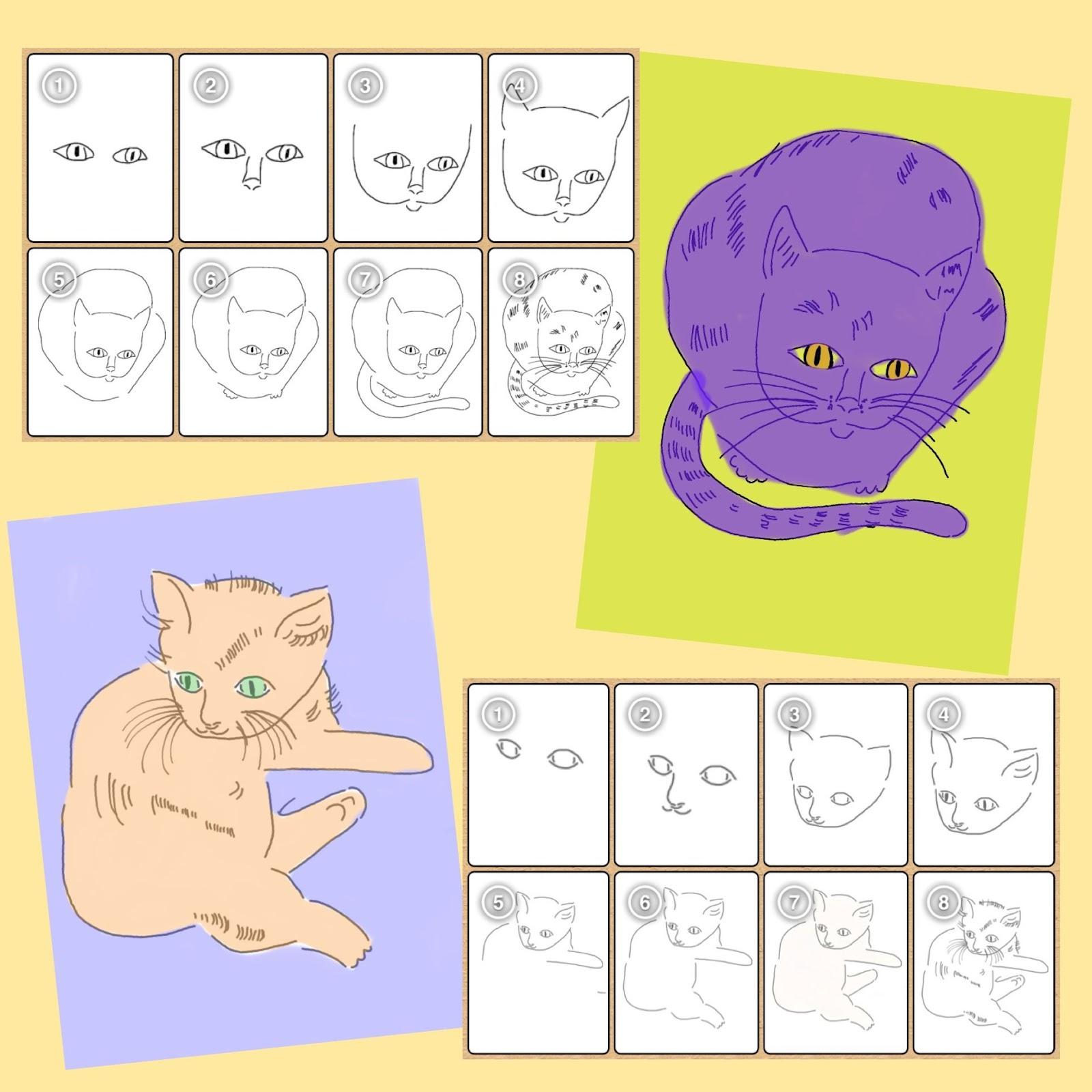 ville katte tegninger