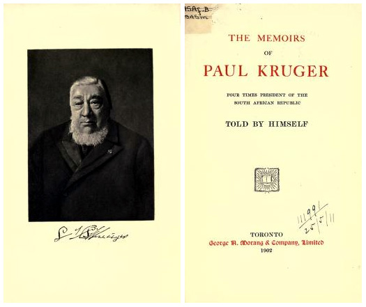 The memoirs of Paul Kruger