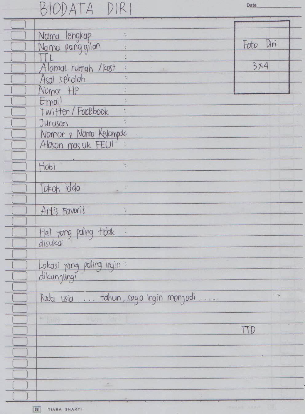 Contoh Biografi Yg Singkat - Contoh U
