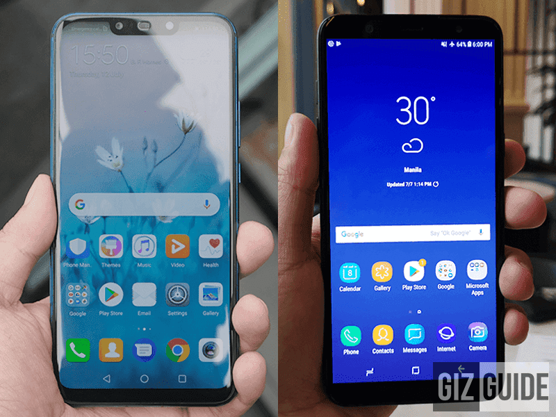 Huawei Nova 3i vs Samsung Galaxy J8 (2018) Specs Comparison