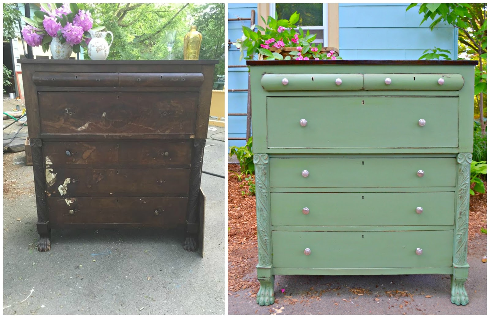 Heir And Space: How To Refinish An Antique Dresser