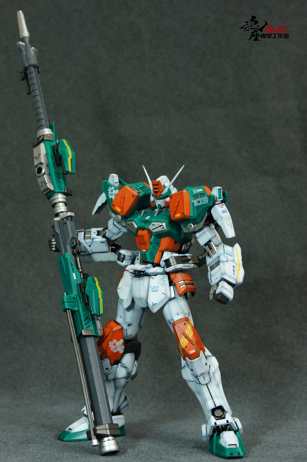 Mg 1 100 Buster Gundam Customized Build Gundam Kits