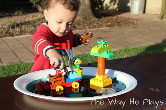 Adding sensory play to plastic toys, make play more interesting and engaging