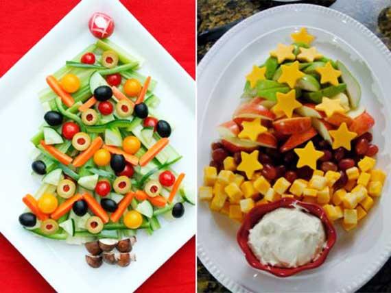 новогодние елки из салатов