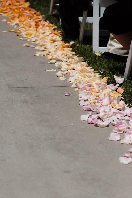 Disneyland Wedding - Ombre Aisle Petals