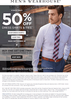 free Men's Wearhouse coupons for march 2017