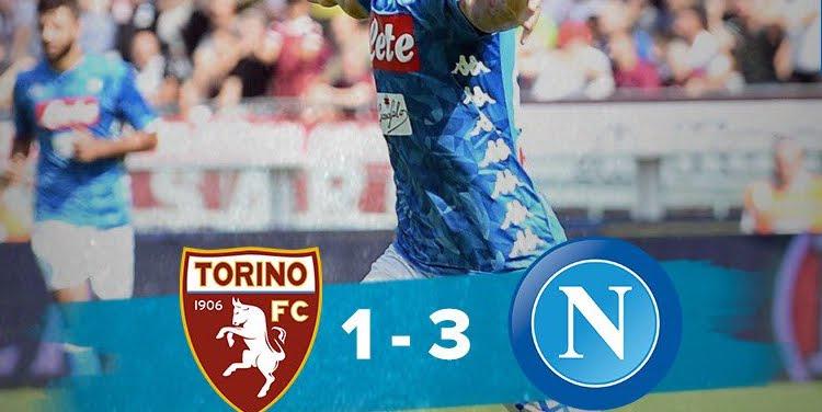 Torino-Napoli: risultato con doppietta di Insigne, aggancio Juve in classifica.