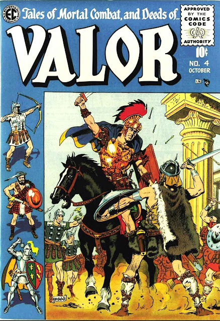 Valor v1 #4 ec comic book cover art by Wally Wood