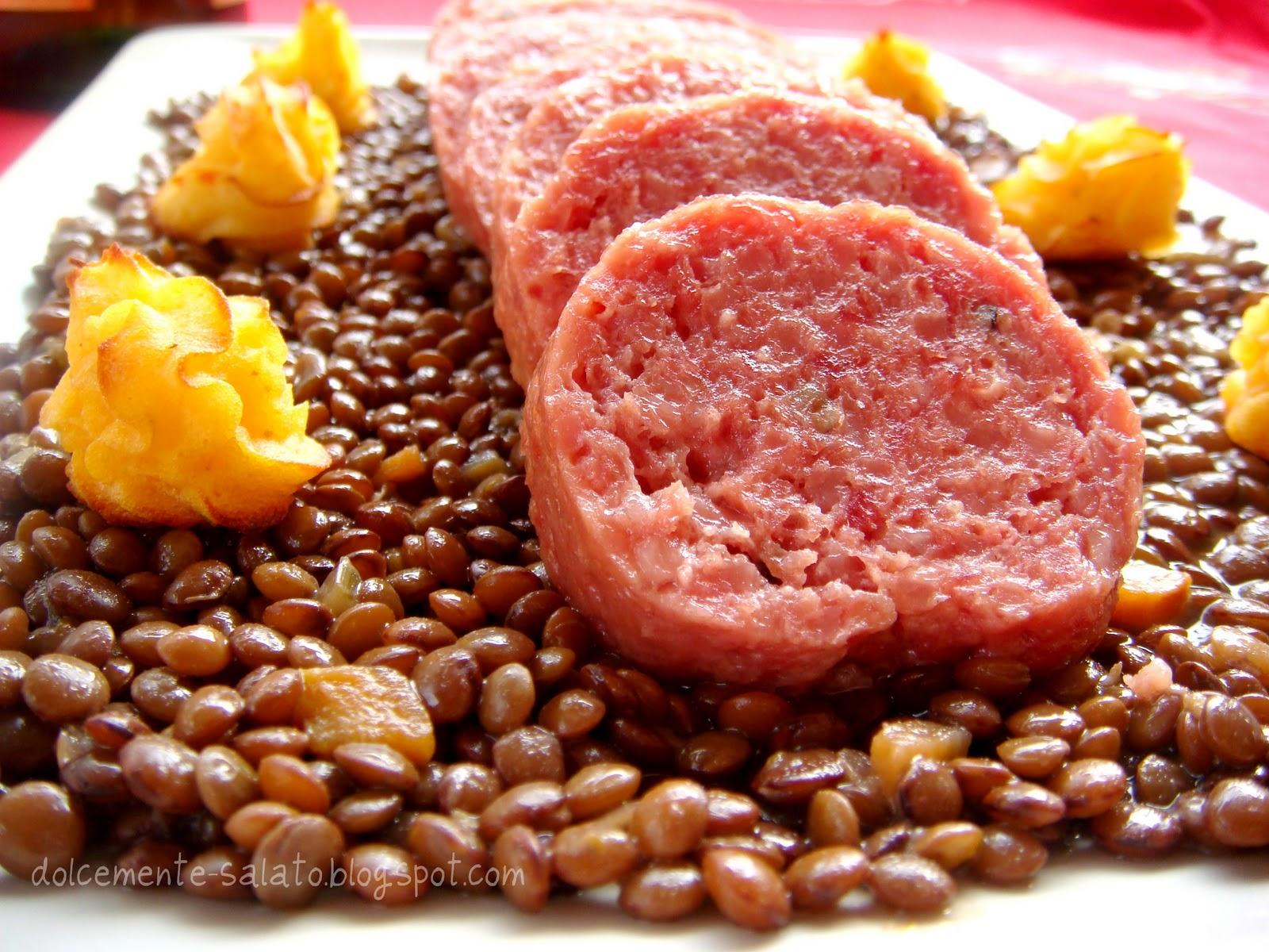 Dolcemente salato zampone lenticchie patate duchessa e for Www presotto it
