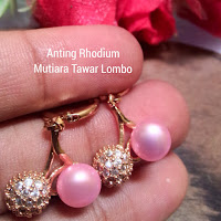 Anting mutiara lombok air Tawar