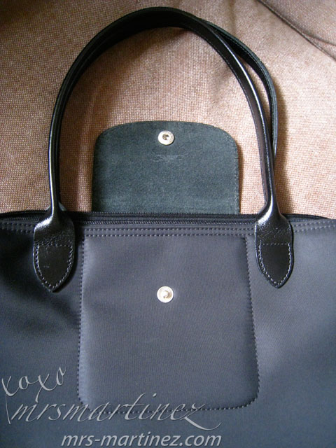 Longchamp Interior  One flat pocket on front (view from front of bag 8556459aa5830