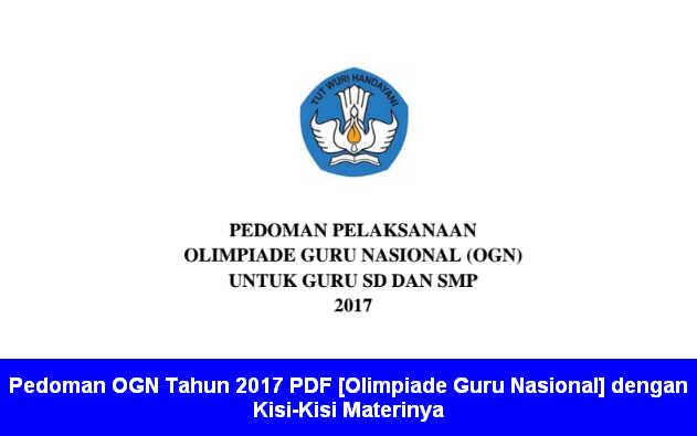 Pedoman OGN Tahun 2017 PDF