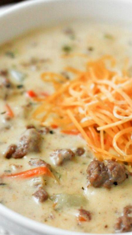 CHEESEBURGER SOUP #cheese #cheeseburger #burger #soup #souprecipes