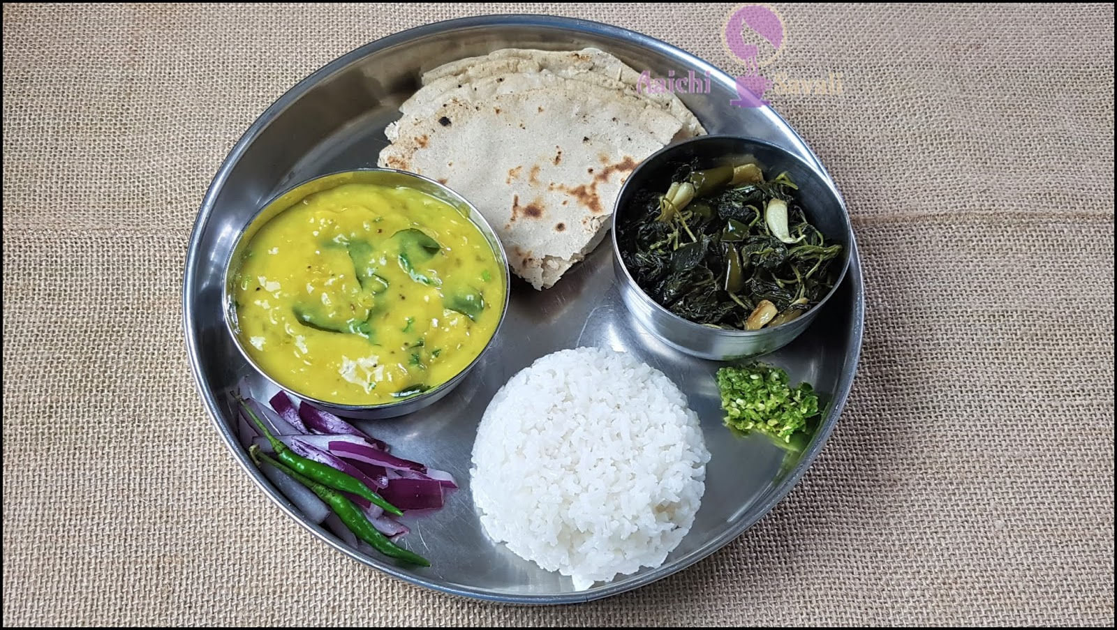 Complete Recipe for Authentic Maharashtrian Pithale - Bhakri Thali